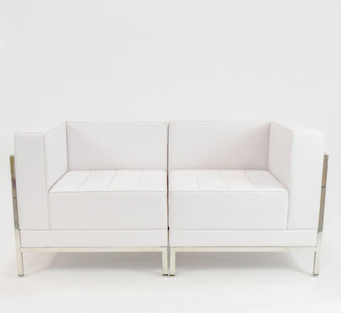 White Tufted Corner Chair (left & right)