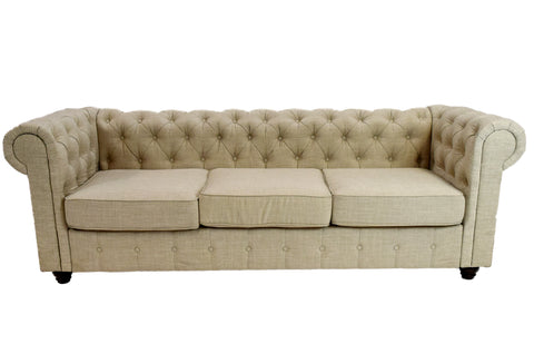 Chesterfield Vintage Sofa (Almond)