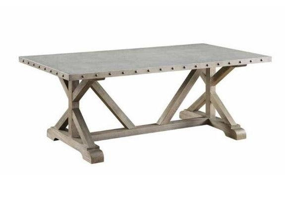 Galvanized Nailhead Coffee Table