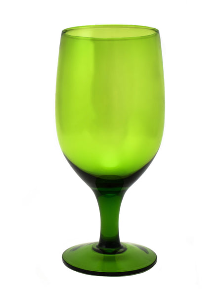 Gala Olive Goblet 15oz Glass