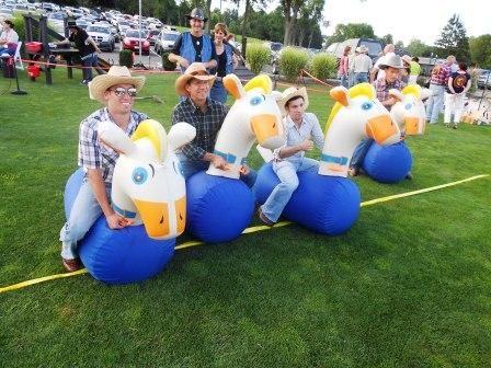 Inflatable Horse Races