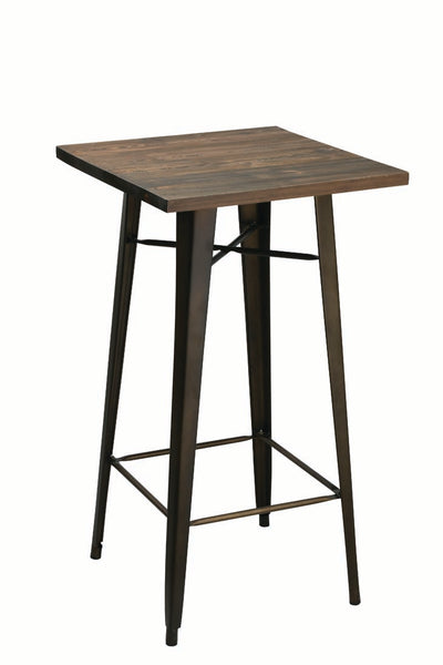 Philia Rustic Metal Pub Table