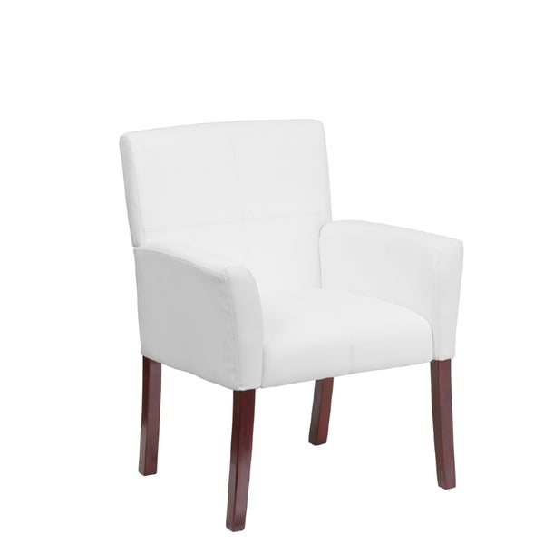 Reception White Leather Chair