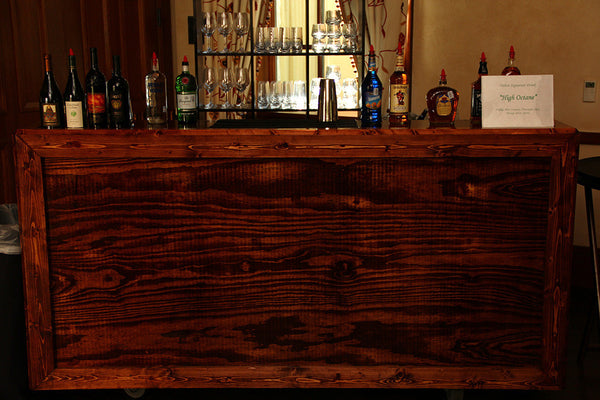Wood Stain Rolling Bar