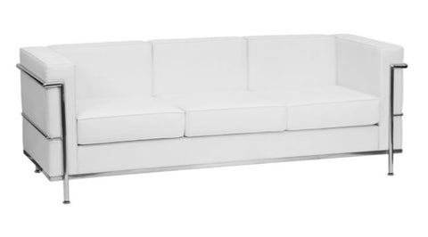 White & Chrome Sofa