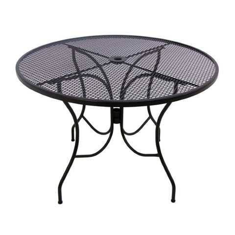 "Wrought Iron 42"" Table"