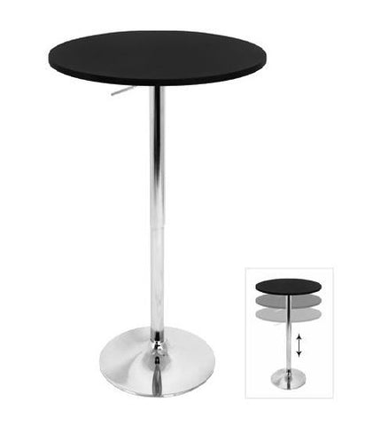 Stand-Up Black Top Cocktail Table