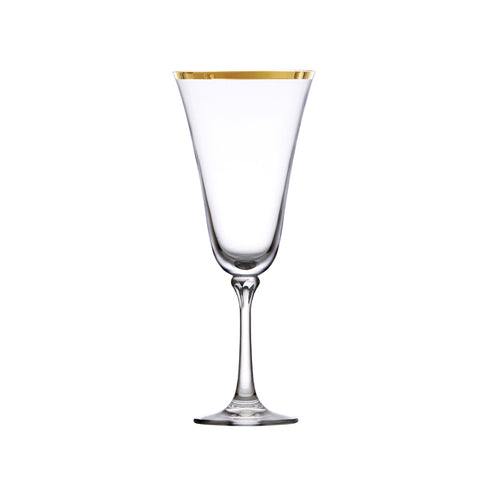 Charlotte Gold Rim Wine 13oz Glass