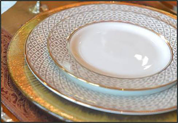 Marcella Gold Salad Plate