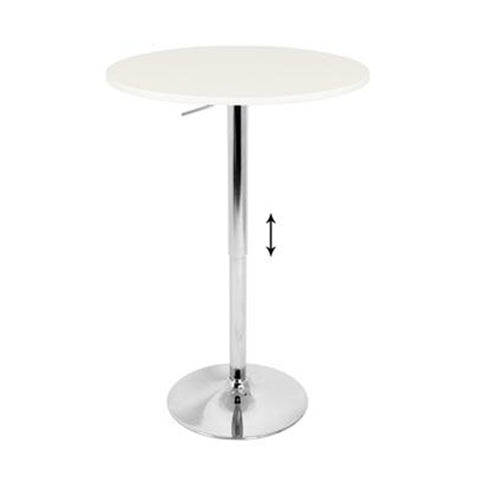 Stand-Up White Top Cocktail Table