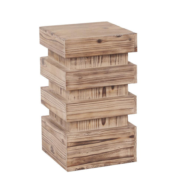Stepped Wood Pedestal