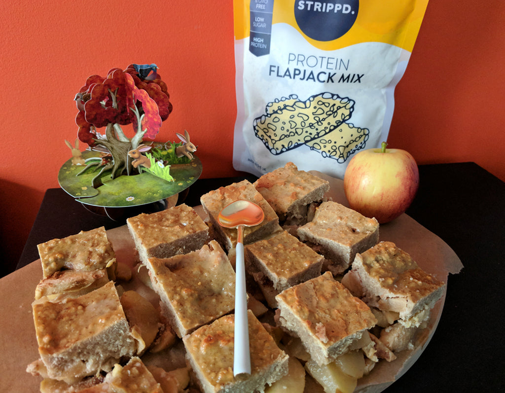 Apple Day Protein Flapjack Crumble