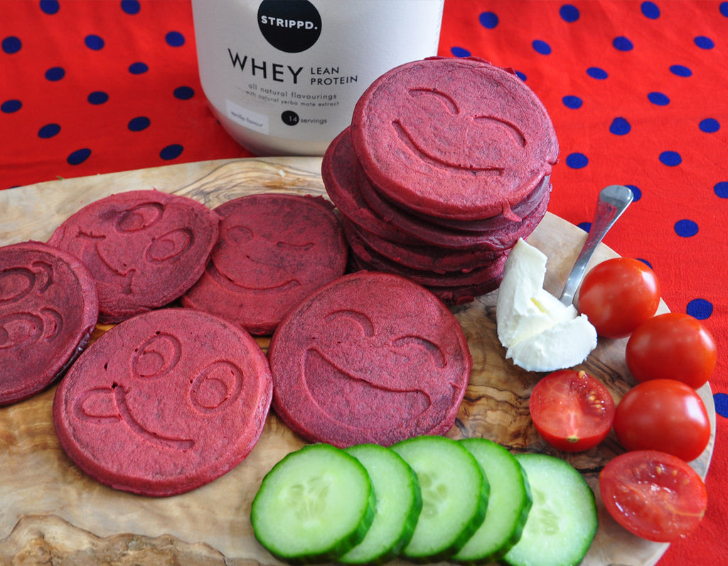 Beetroot Pink Whey Protein Pancakes