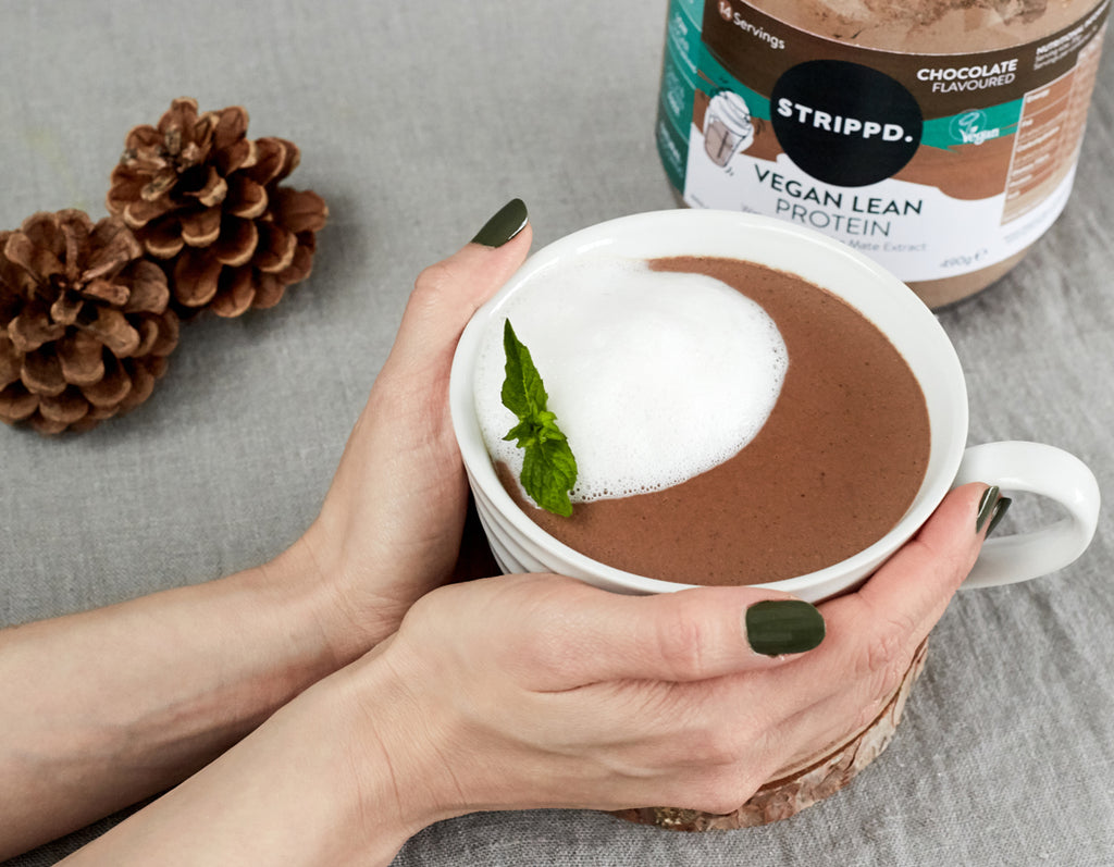 Vegan Protein Peppermint Hot Chocolate