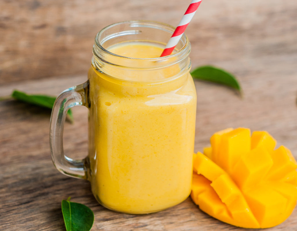 Vegan Tropical Protein Smoothie jar
