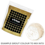 v1rtus Gold Glitter Grout Additive 100g / 3.5oz for Tiles Wall Floor Glass Mosaic Sparkle