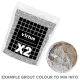 2 X v1rtus Glitter Grout Silver Additive 100g / 3.5oz for Tiles Wall Floor Glass Mosaic Sparkle