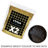 2 X v1rtus Glitter Grout Gold Additive 100g / 3.5oz for Tiles Wall Floor Glass Mosaic Sparkle