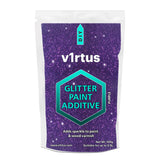 v1rtus Purple Glitter Paint Crystals Additive 100g / 3.5oz for Emulsion Paint Walls