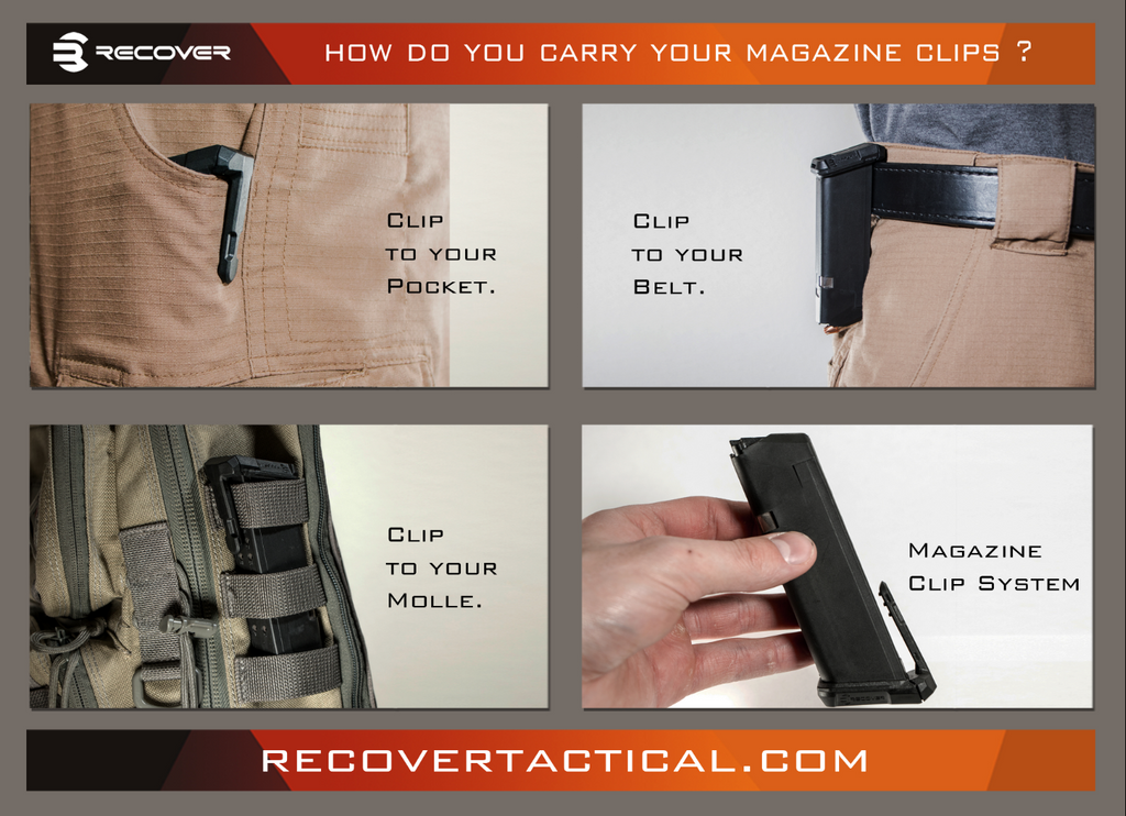 MC17 MAGAZINE CLIP BASE SET FOR THE GLOCK 17 (NOT GLOCK 19 COMPATIBLE)