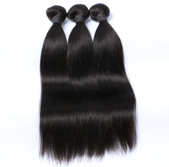3 Bundles 7A Peruvian Straight Hair Weave- Virgin Remy Sew ...