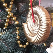 Load image into Gallery viewer, Handmade ammonite Christmas decoration