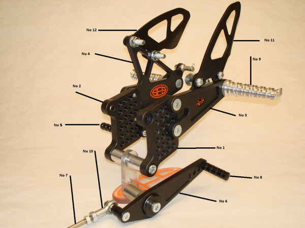 SES Rearsets Race Rearsets Spares