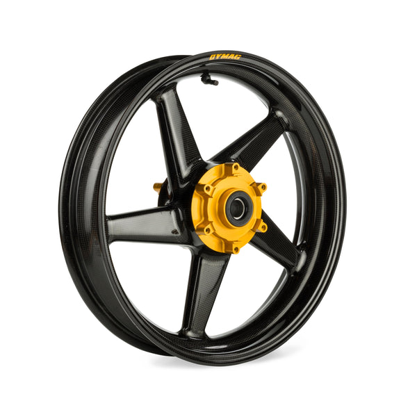 Black Dymag Carbon fiber CA5 front wheel