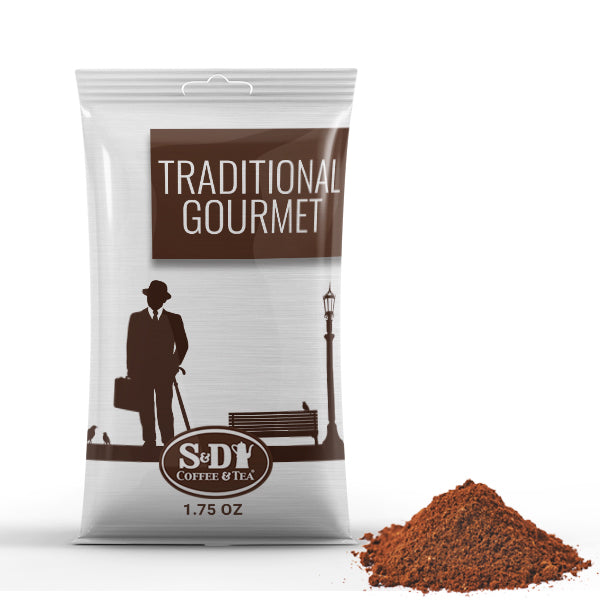 Traditional Gourmet Ground Coffee Pack-24ct-8oz-S&D Coffee & Tea