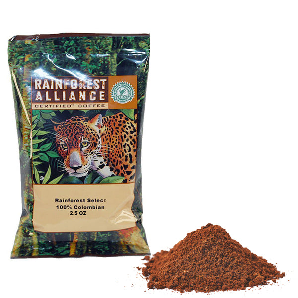 100% Rainforest Alliance Certified Ground Coffee Pack-42ct-2.5oz-S&D Coffee & Tea