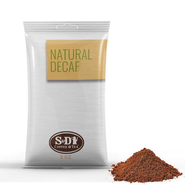 Natural Decaf Ground Coffee Pack-96ct-2oz-S&D Coffee & Tea