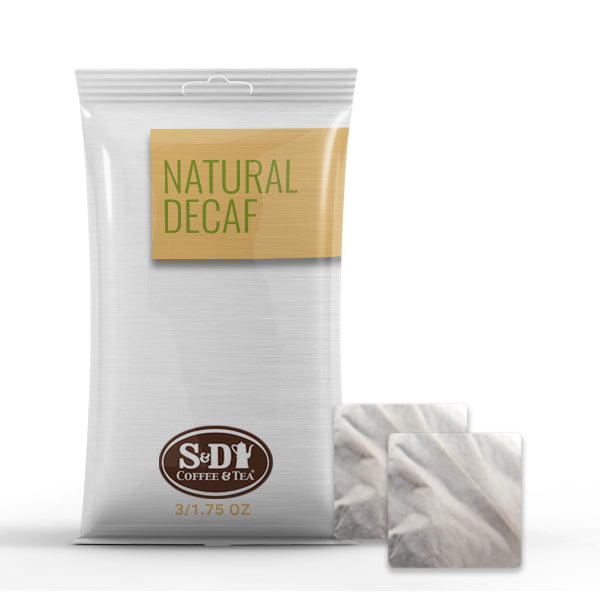 Natural Decaf Ground Coffee Filter Pack 3/1.75oz-Case (16ct)-S&D Coffee & Tea