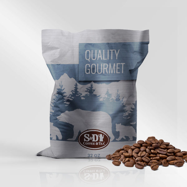 Quality Gourmet Whole Bean Coffee, 32oz (2lb) 12ct-Case (12ct)-S&D Coffee & Tea