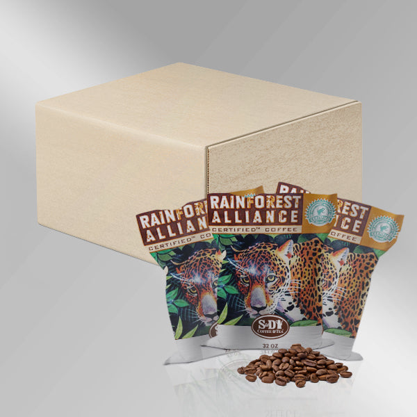 100% Rainforest Alliance Certified Whole Bean Coffee, 32oz (2lb)-Case (3ct)-S&D Coffee & Tea