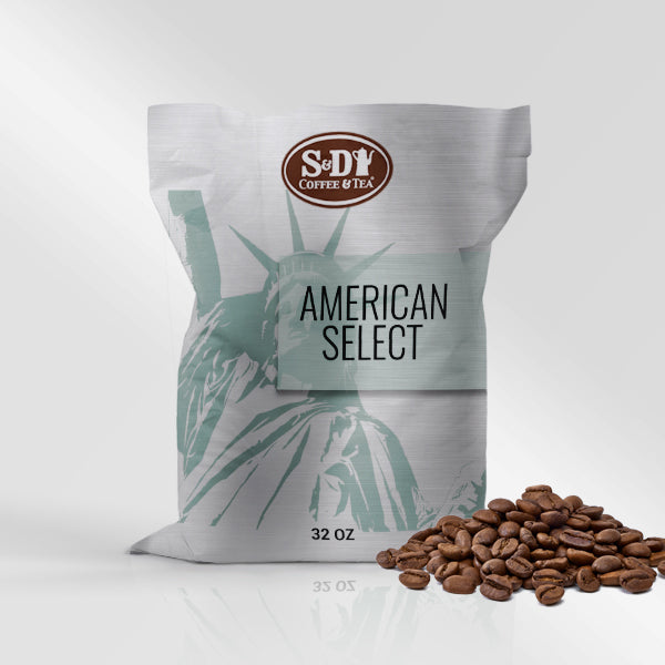 American Select Whole Bean Coffee, 32oz (2lb) 12ct-Case (12ct)-S&D Coffee & Tea
