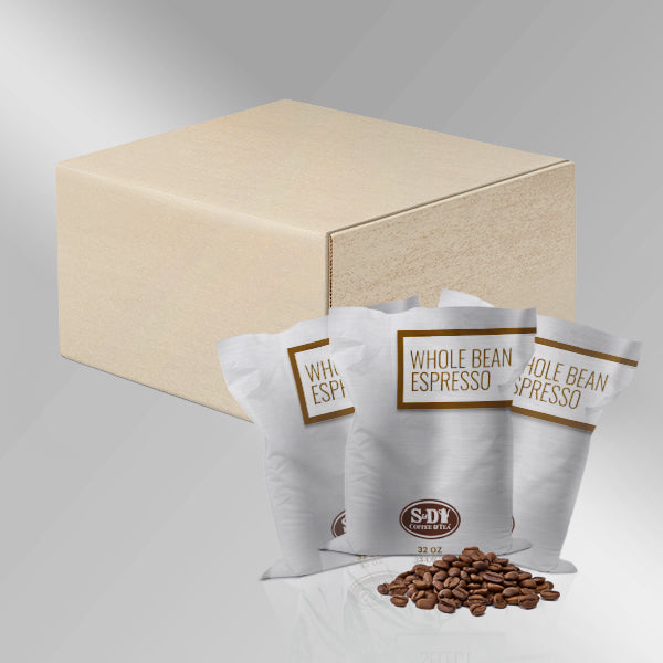 Espresso Whole Bean Coffee, 32oz (2lb)-Case (3ct)-S&D Coffee & Tea
