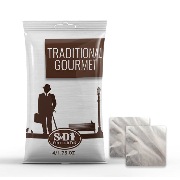 S&D Traditional Gourmet Filter Pack - 4/1.75oz-Case (25ct)-S&D Coffee & Tea