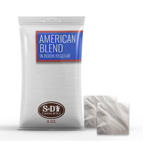 American Blend In Room Regular Ground Coffee Filter Pods-150ct-.5oz-S&D Coffee & Tea