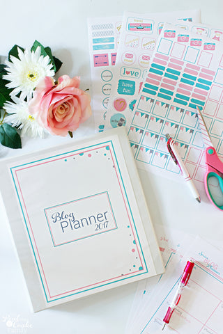 2017 Real Organized Blog Planner - Printed Version