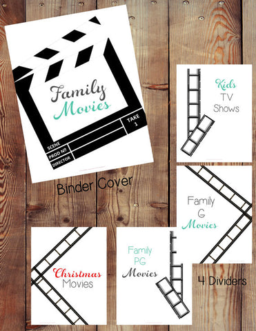 Family Movie Binder Printables