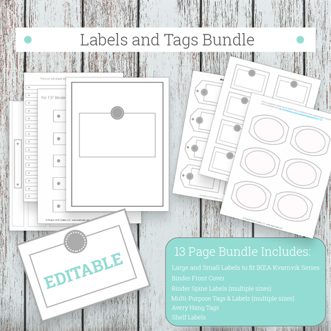 Labels and Tags Bundle - Grey