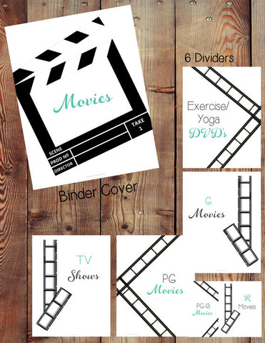 Movie Binder Printables