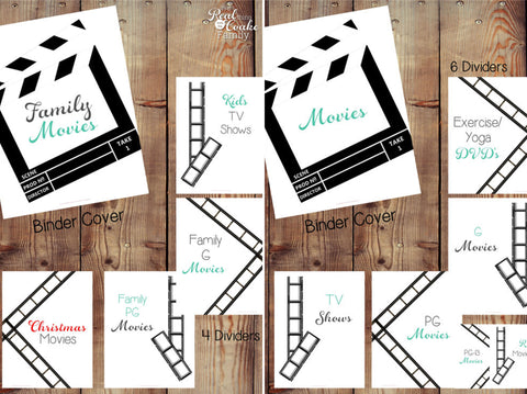 Movie Binder and Family Movie Binder Printables