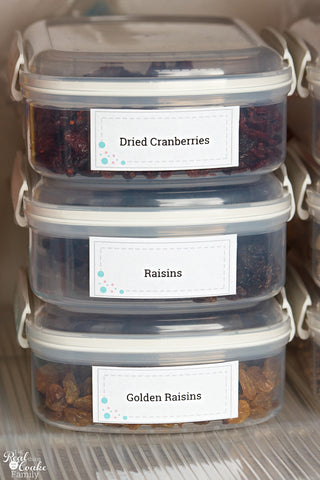 Kitchen Pantry Labels - Dots