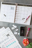 Real Organized Undated Printable Calendar - Black