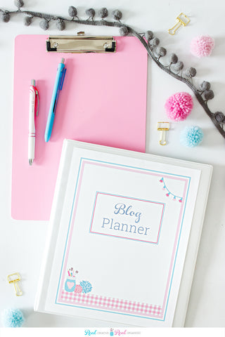Real Organized Blog Planner