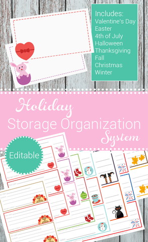 Holiday Storage Organization System