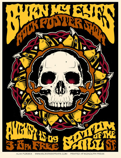 BURN MY EYES (poster show) San Francisco 2009 by Alan Forbes