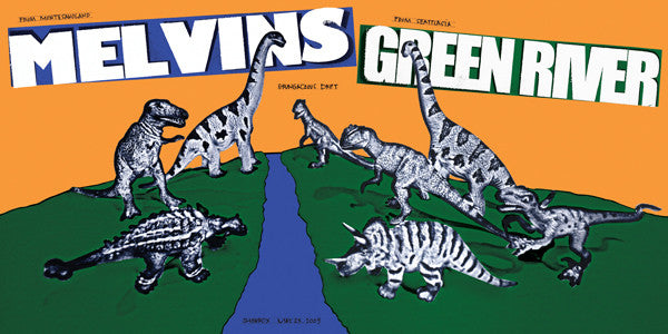 MELVINS / GREEN RIVER - Seattle 2009 by Jeff Ament (band signed)