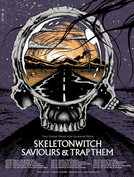 SKELETONWITCH - tour 2009 by Alan Forbes & Alan Hynes